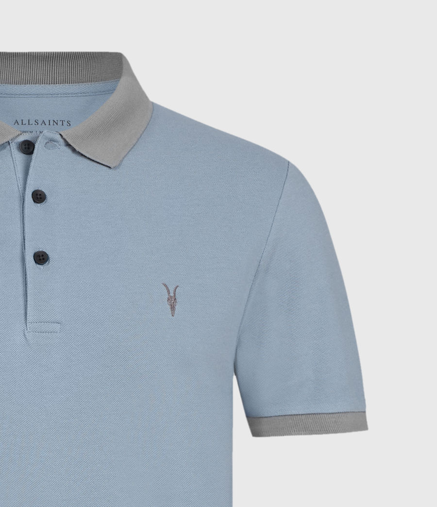 Hommes Polo Orlando (grey_washed_black) - Image 4