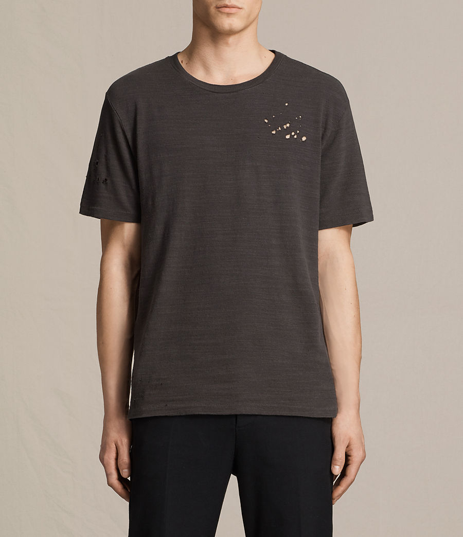 Men's Archie Crew T-Shirt (washed_black) - Image 1