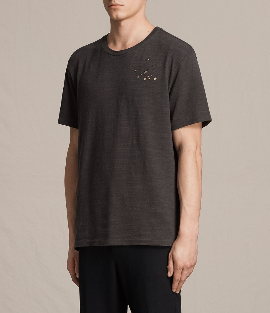 Men's Archie Crew T-Shirt (washed_black) - Image 3