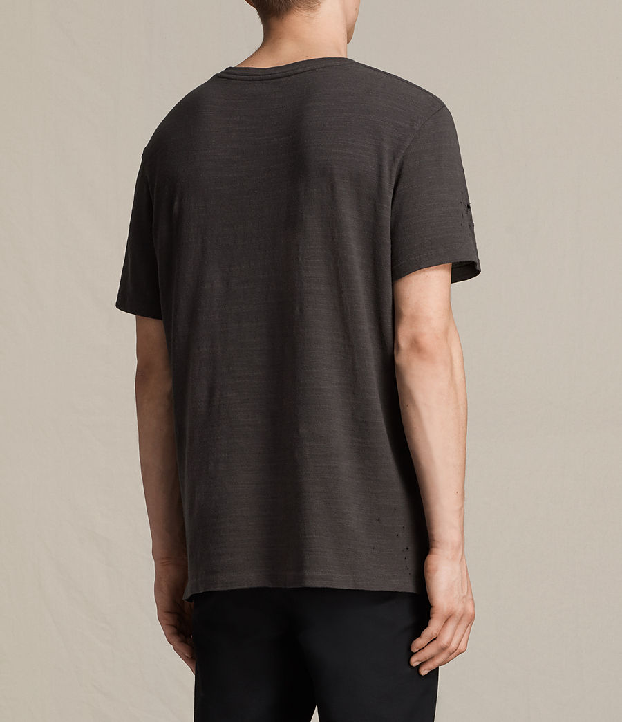 Men's Archie Crew T-Shirt (washed_black) - Image 4