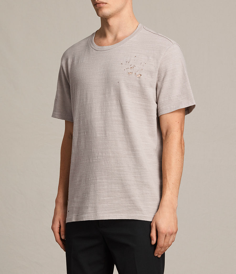 Men's Archie Crew T-Shirt (almond_grey) - Image 3