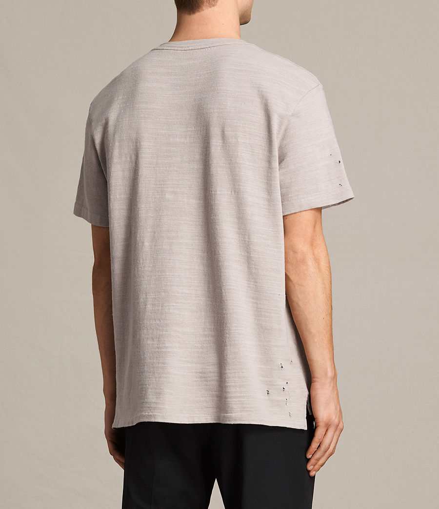 Men's Archie Crew T-Shirt (almond_grey) - Image 4
