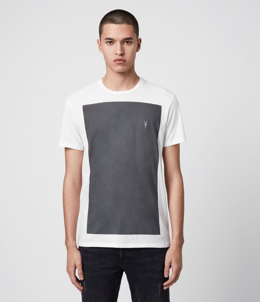 Herren Lobke Crew T-Shirt (chalk_washed_black) - Image 1