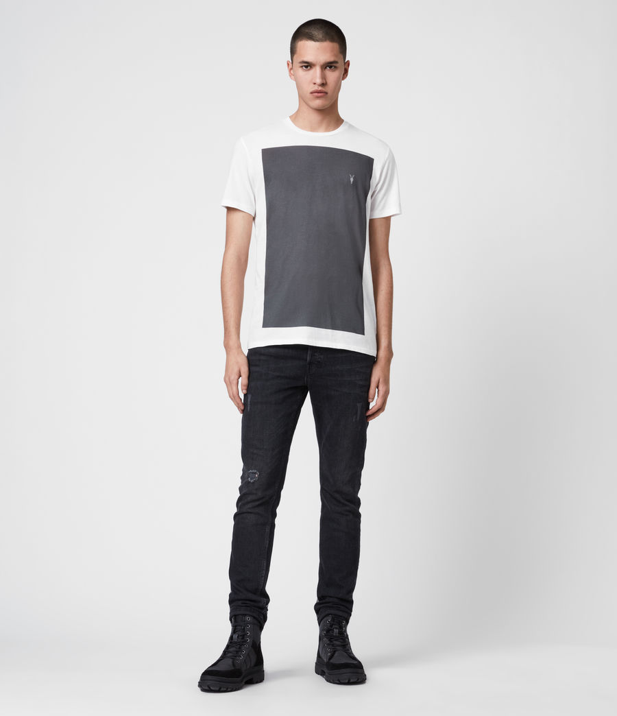 Herren Lobke Crew T-Shirt (chalk_washed_black) - Image 3