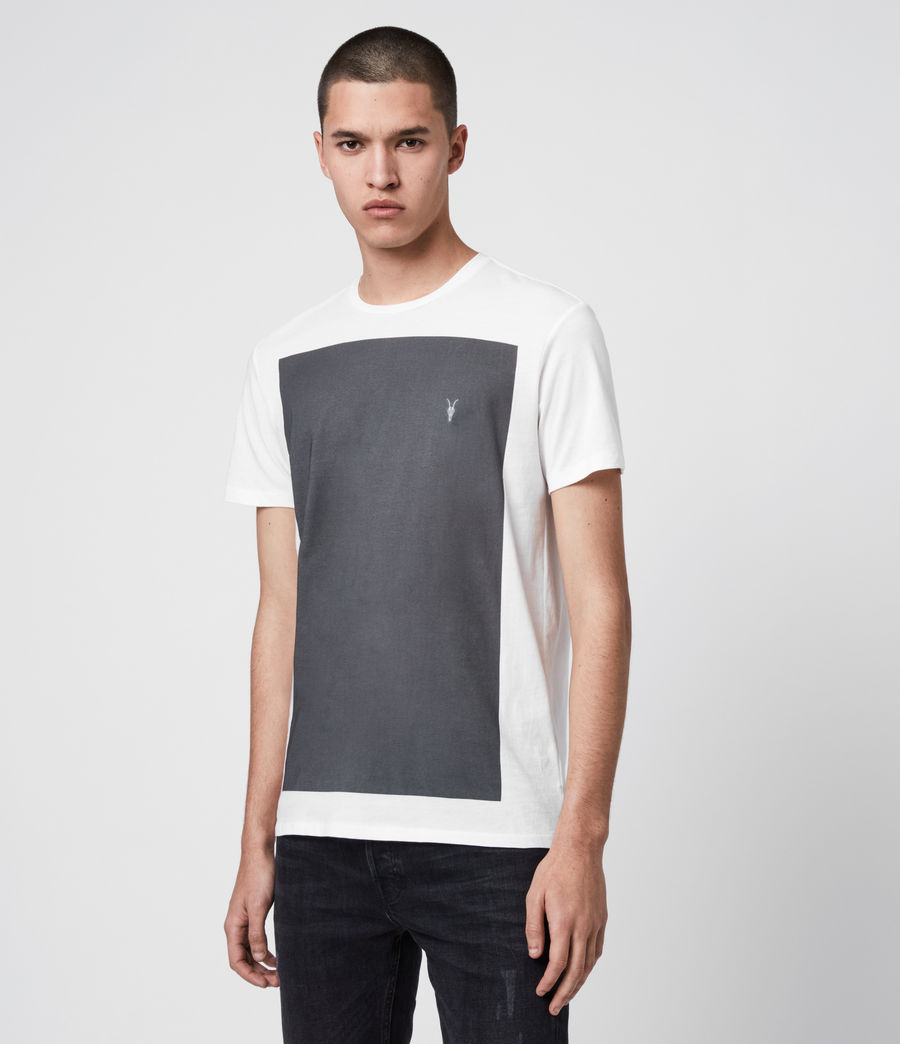 Herren Lobke Crew T-Shirt (chalk_washed_black) - Image 4