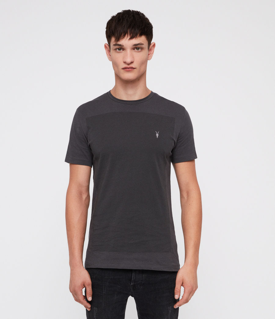 Hombre Lobke Crew T-Shirt (washed_black) - Image 1
