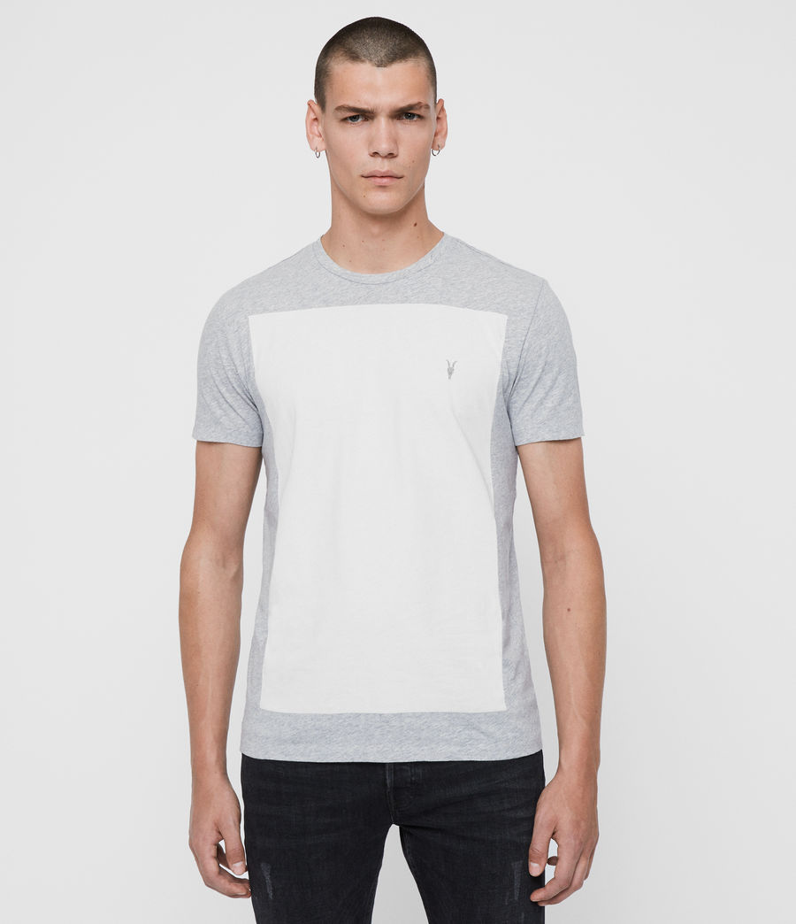Hommes T-Shirt à Manches Courtes Lobke (grey_marl_chalk) - Image 1