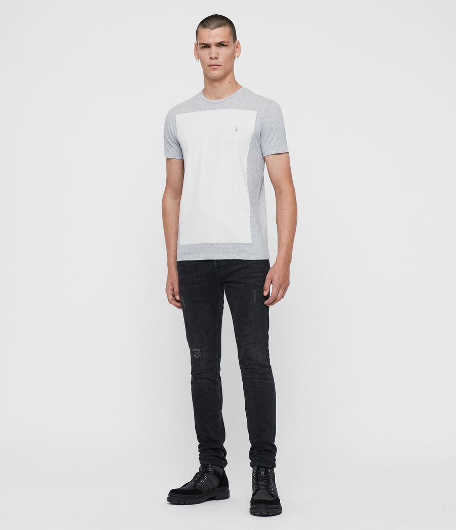 Hommes T-Shirt à Manches Courtes Lobke (grey_marl_chalk) - Image 3