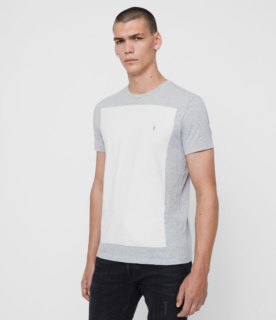 Hommes T-Shirt à Manches Courtes Lobke (grey_marl_chalk) - Image 4