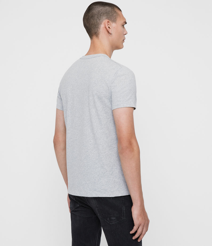 Hommes T-Shirt à Manches Courtes Lobke (grey_marl_chalk) - Image 5