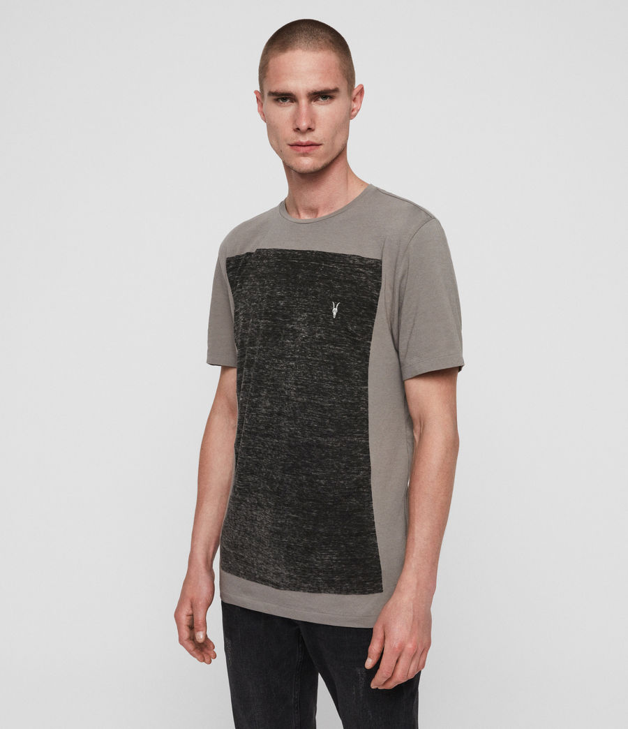 Mens Lobke Crew T-Shirt (grey_marl_chalk) - Image 1