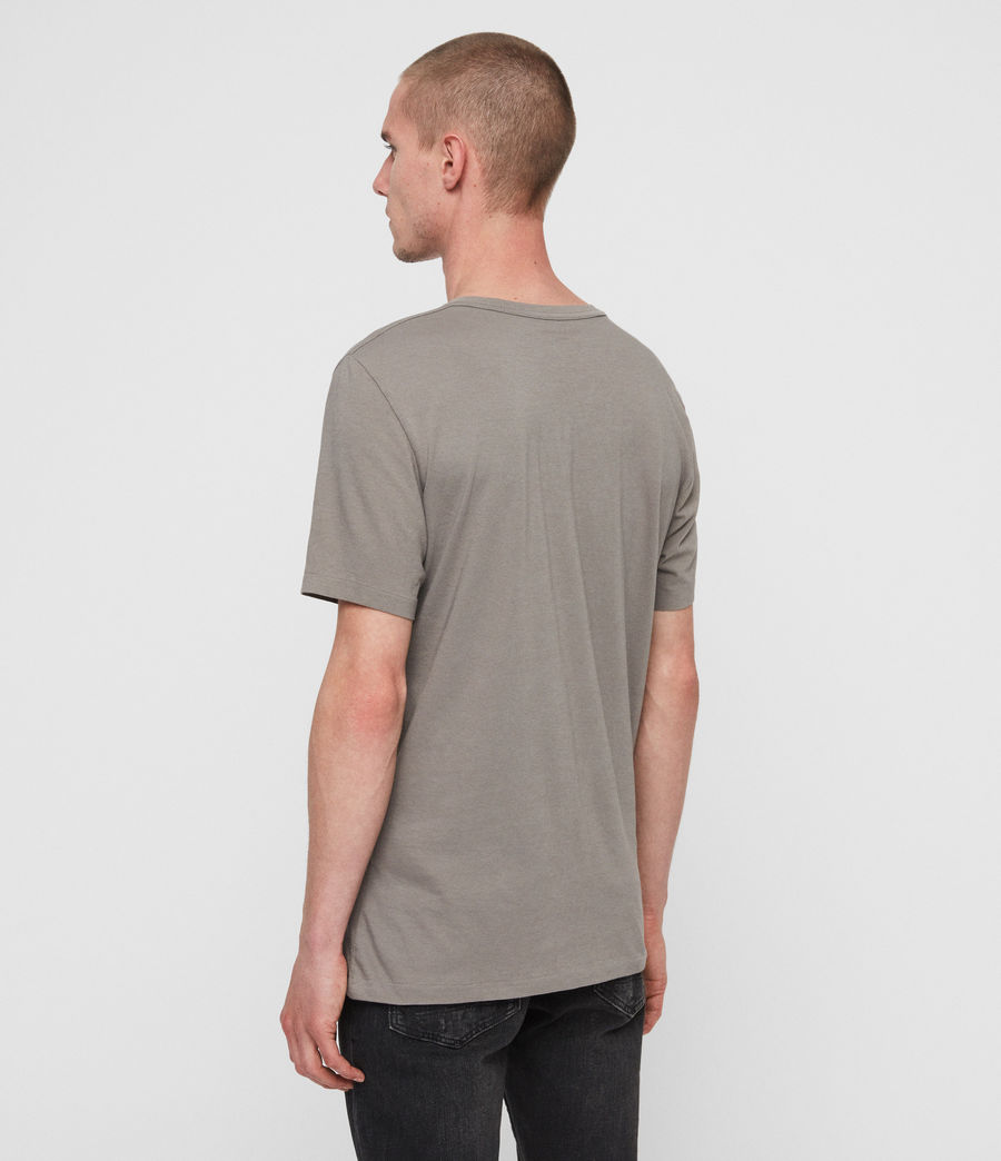 Mens Lobke Crew T-Shirt (grey_marl_chalk) - Image 4
