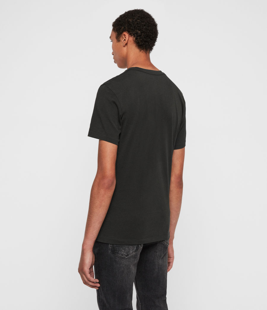 Mens Lobke Crew T-Shirt (black) - Image 5