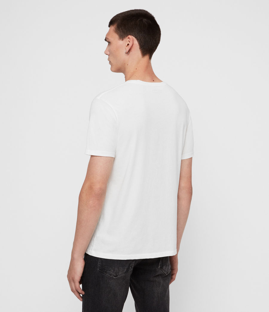 Mens Rufus Crew T-Shirt (chalk_white) - Image 5