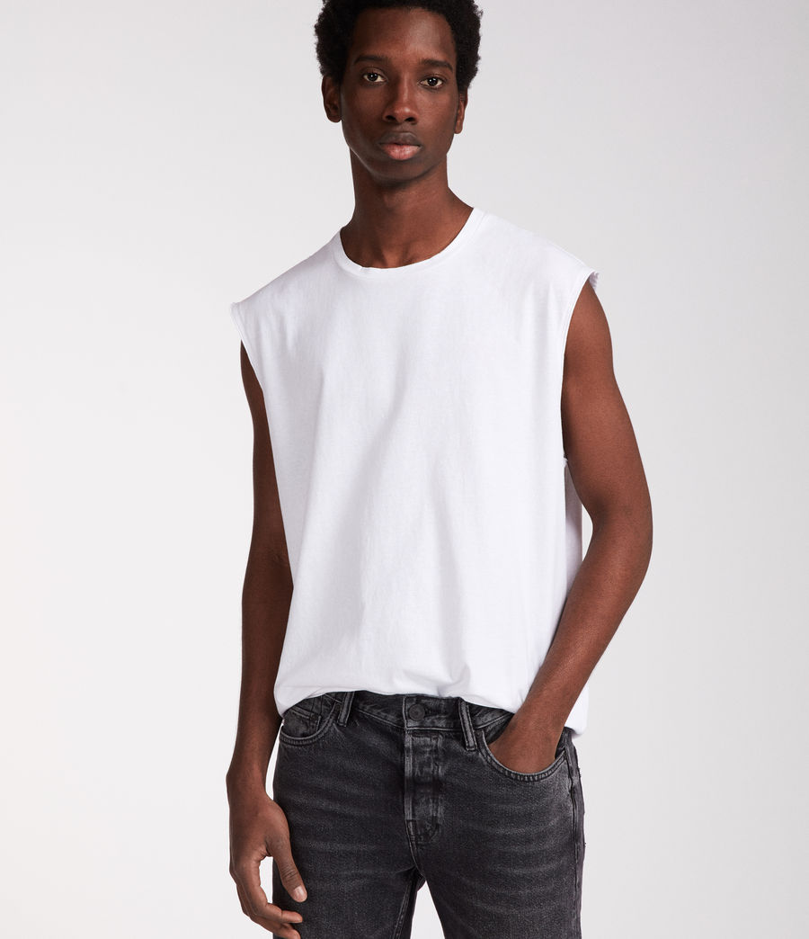 Mens Heton Sleeveless Crew T-Shirt (optic_white) - Image 1