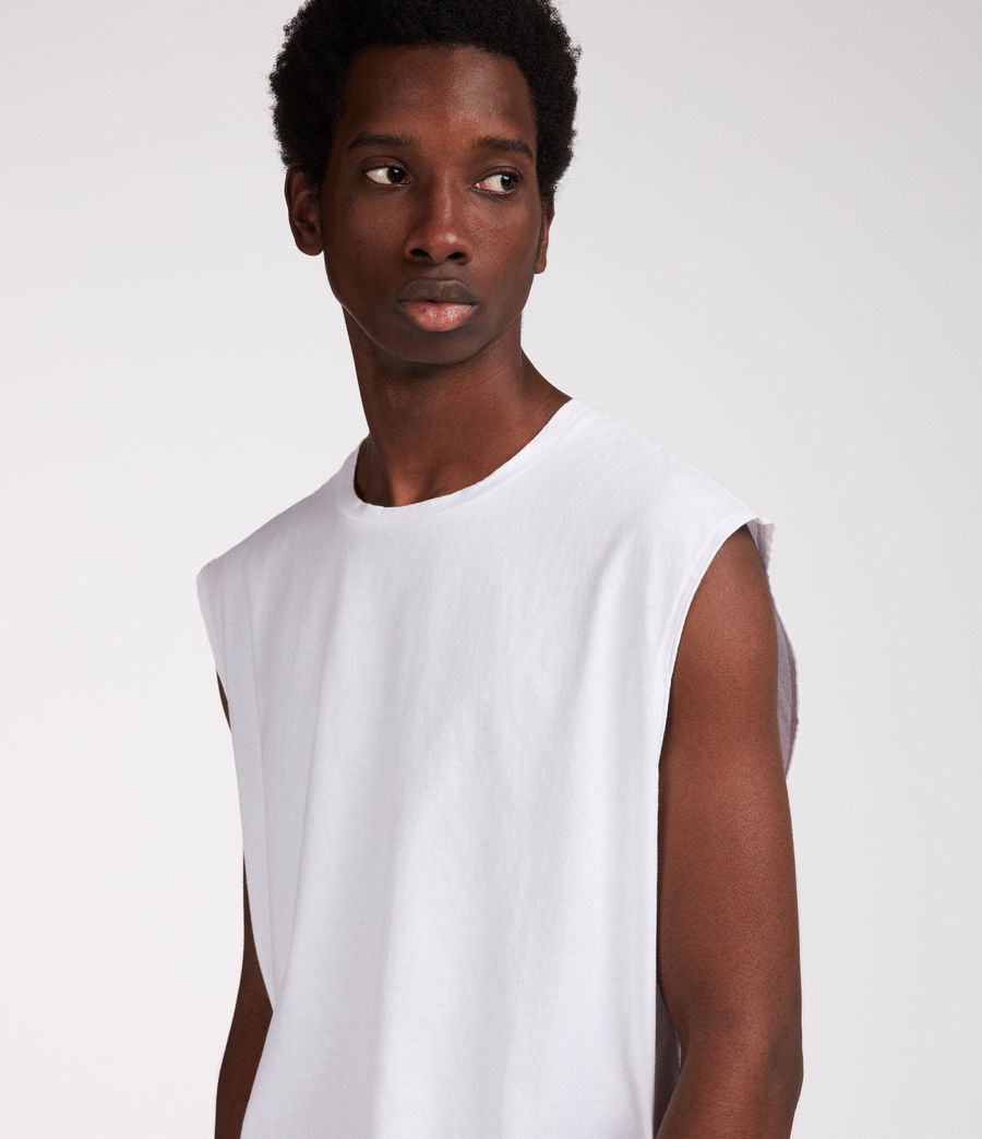 Mens Heton Sleeveless Crew T-Shirt (optic_white) - Image 4