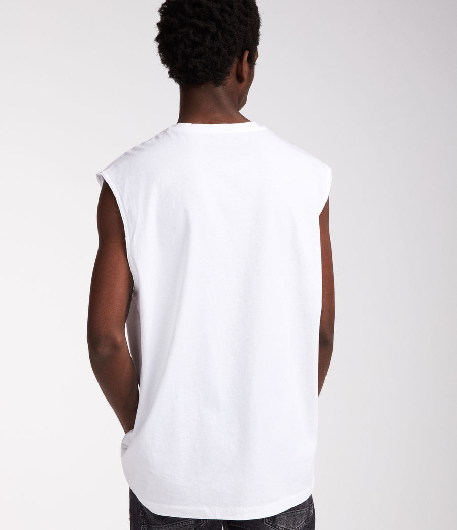 Men's Heton Sleeveless Crew T-Shirt (optic_white) - Image 5