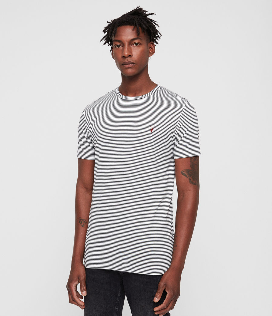 Men's Point Crew T-Shirt (chalk_washed_black) - Image 3
