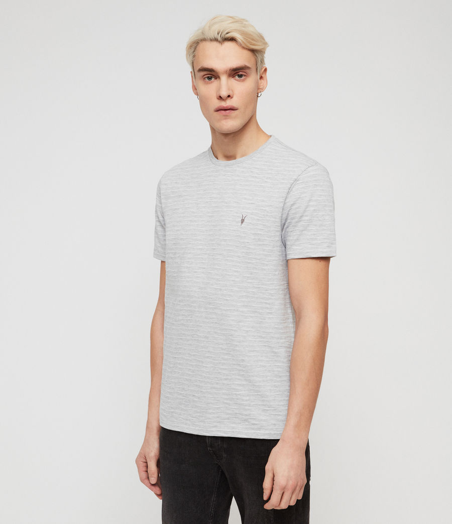 Men's Mana Crew T-Shirt (grey_marl_sol_blue) - Image 1