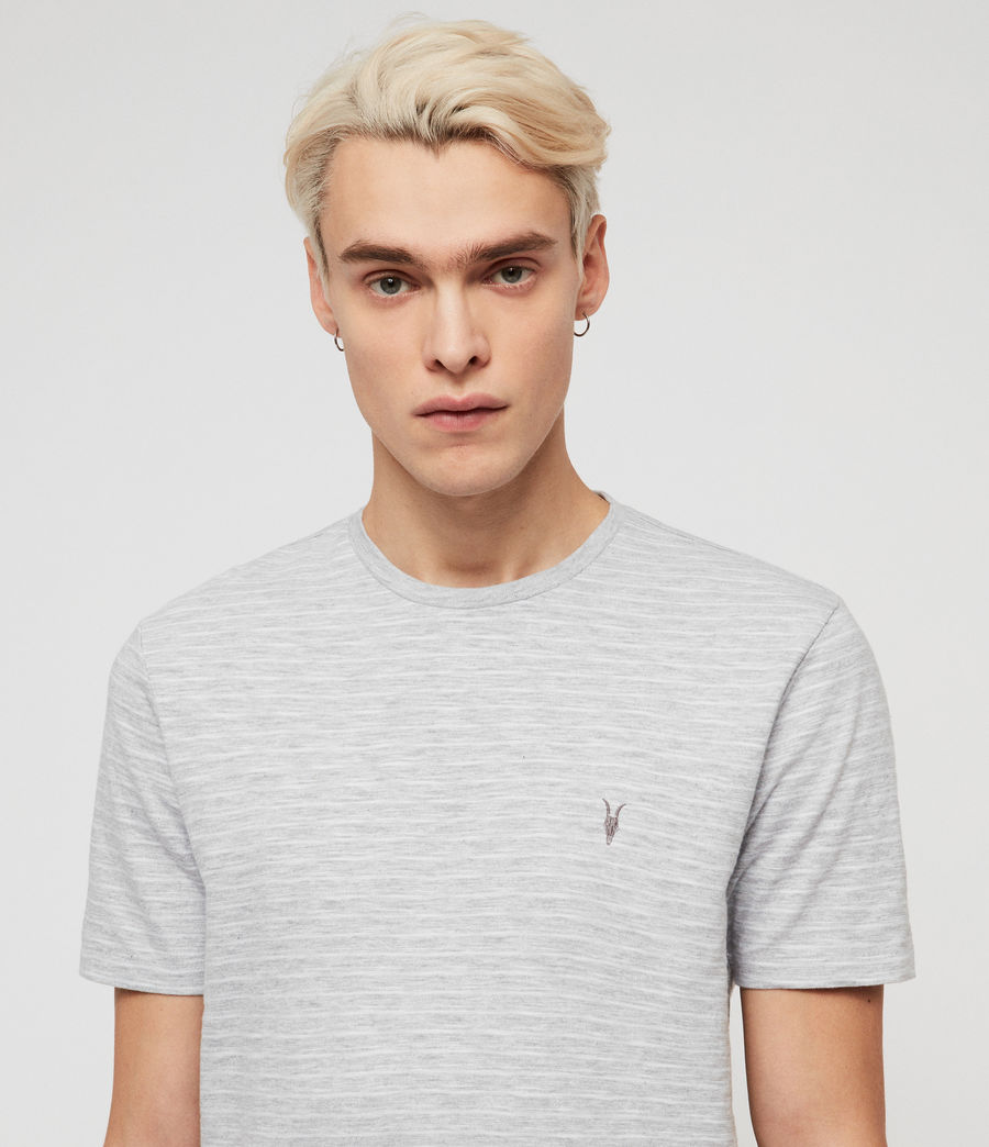 Men's Mana Crew T-Shirt (grey_marl_sol_blue) - Image 2