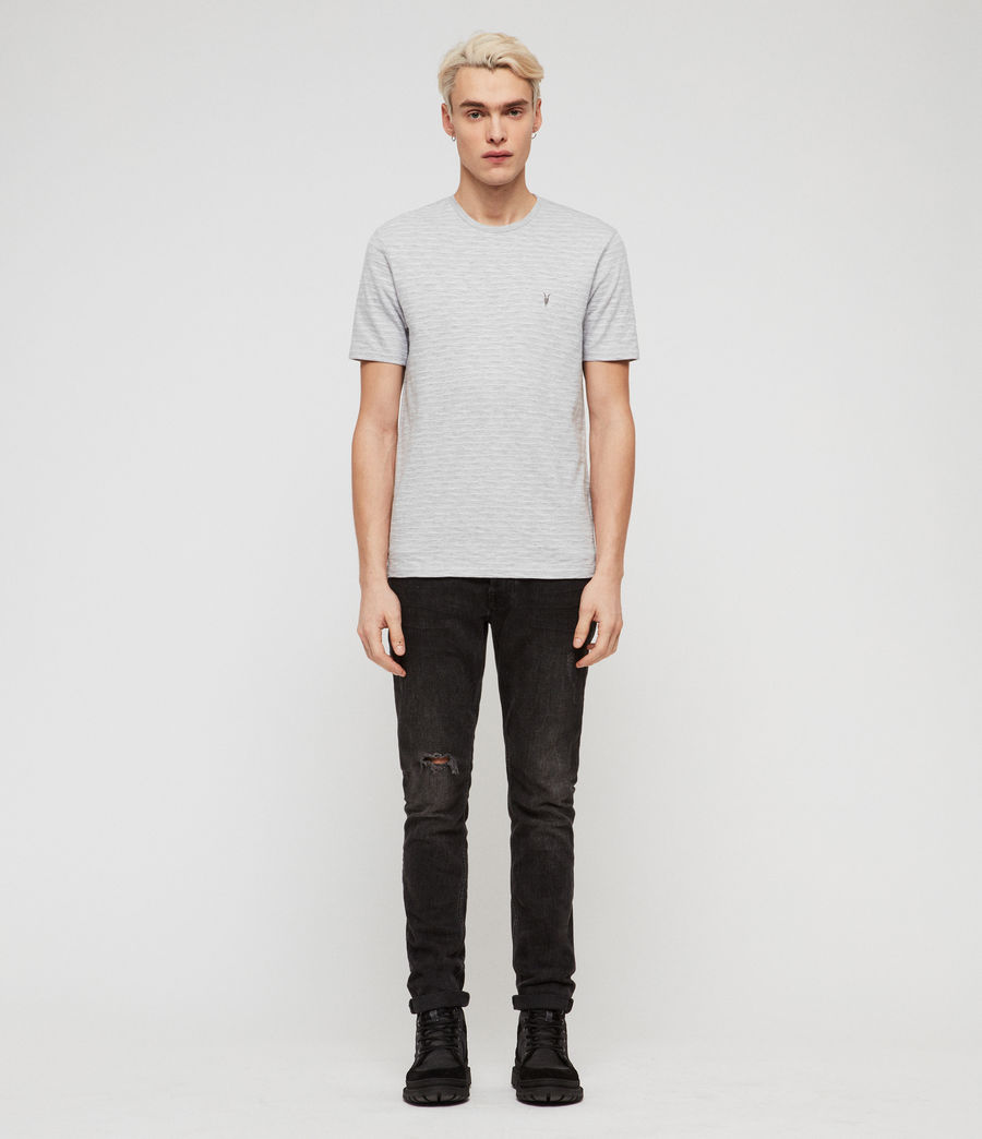 Men's Mana Crew T-Shirt (grey_marl_sol_blue) - Image 3
