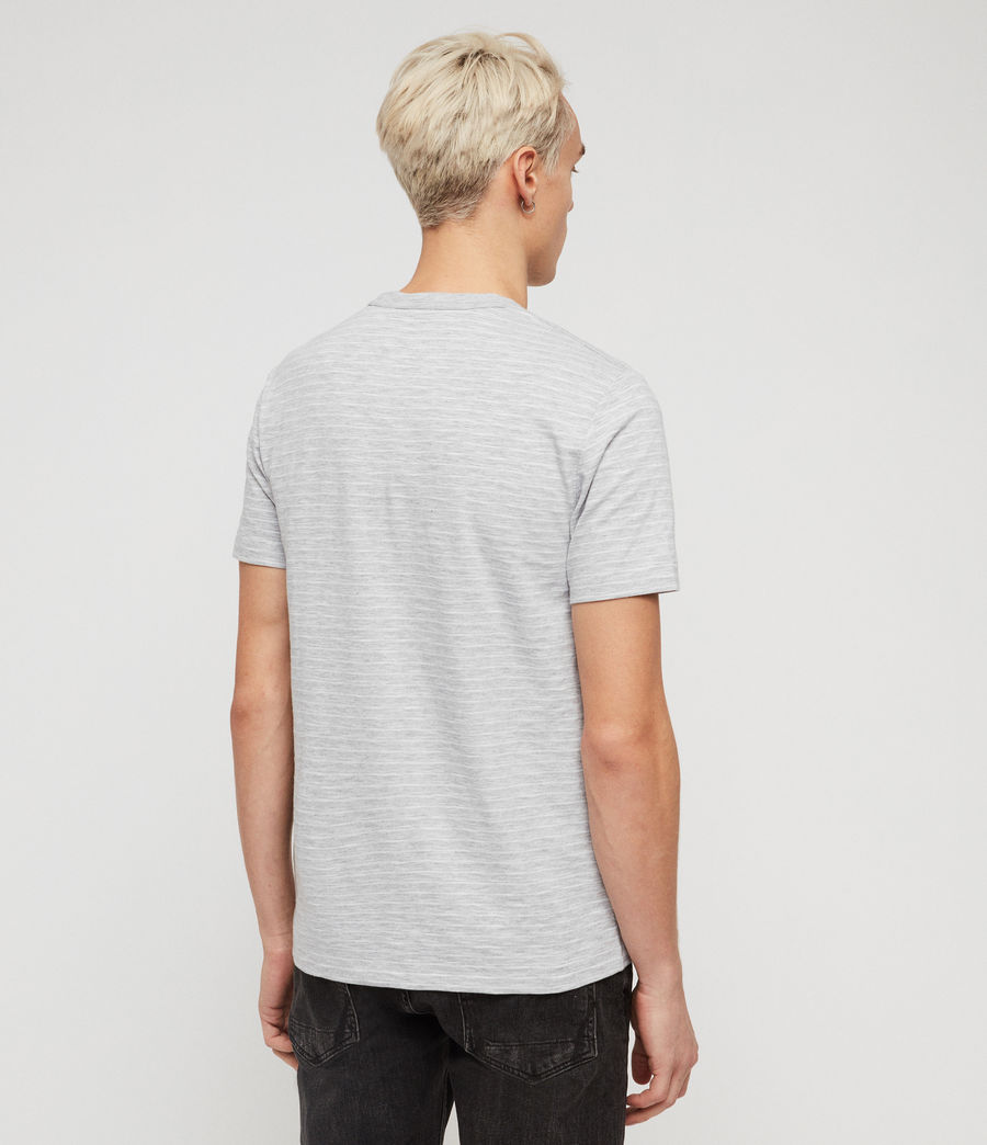 Men's Mana Crew T-Shirt (grey_marl_sol_blue) - Image 4