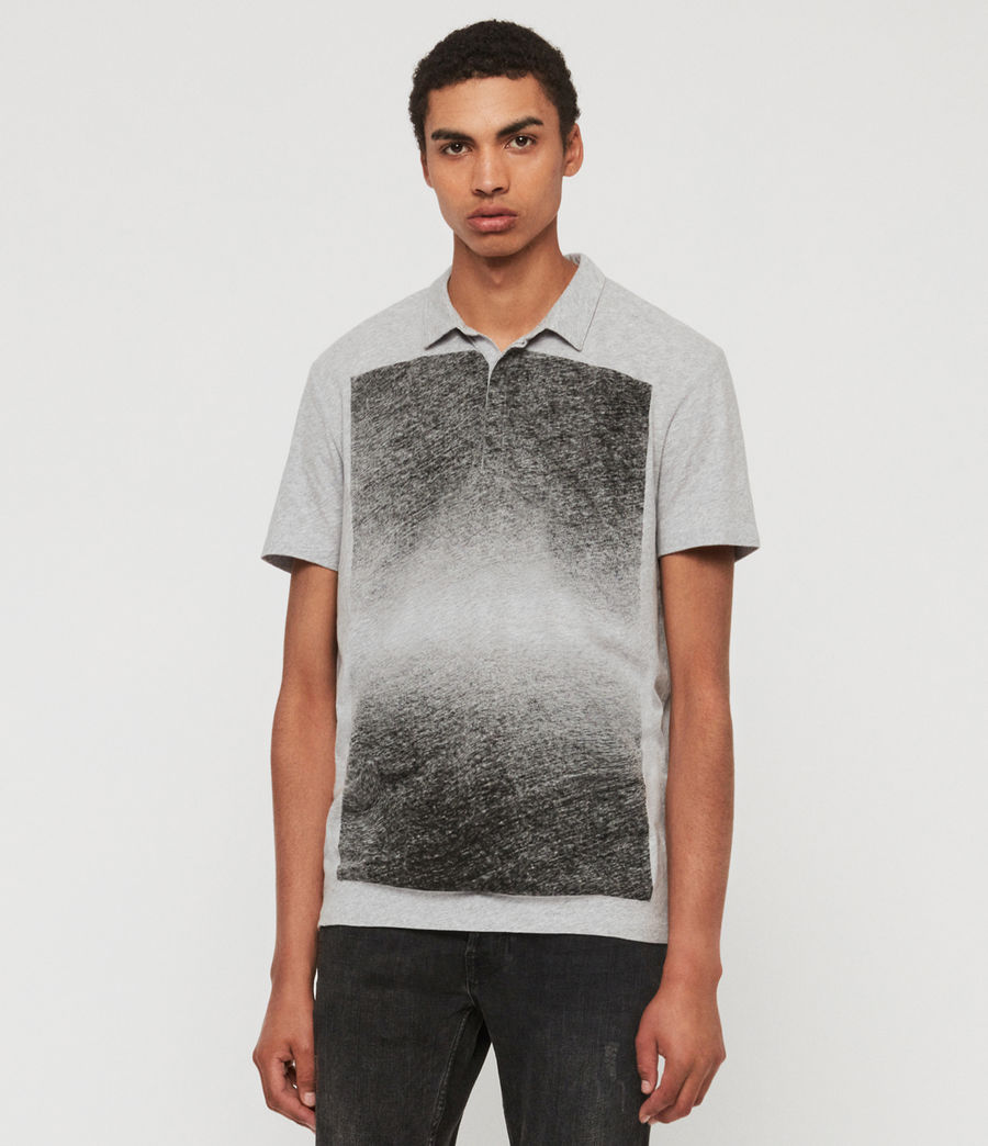 Mens Rufus Short Sleeve Polo Shirt (grey_marl) - Image 1