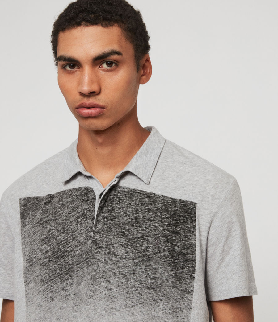 Mens Rufus Short Sleeve Polo Shirt (grey_marl) - Image 2