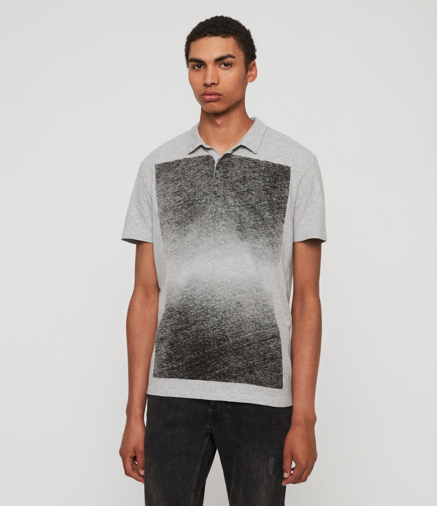 Mens Rufus Short Sleeve Polo Shirt (grey_marl) - Image 3