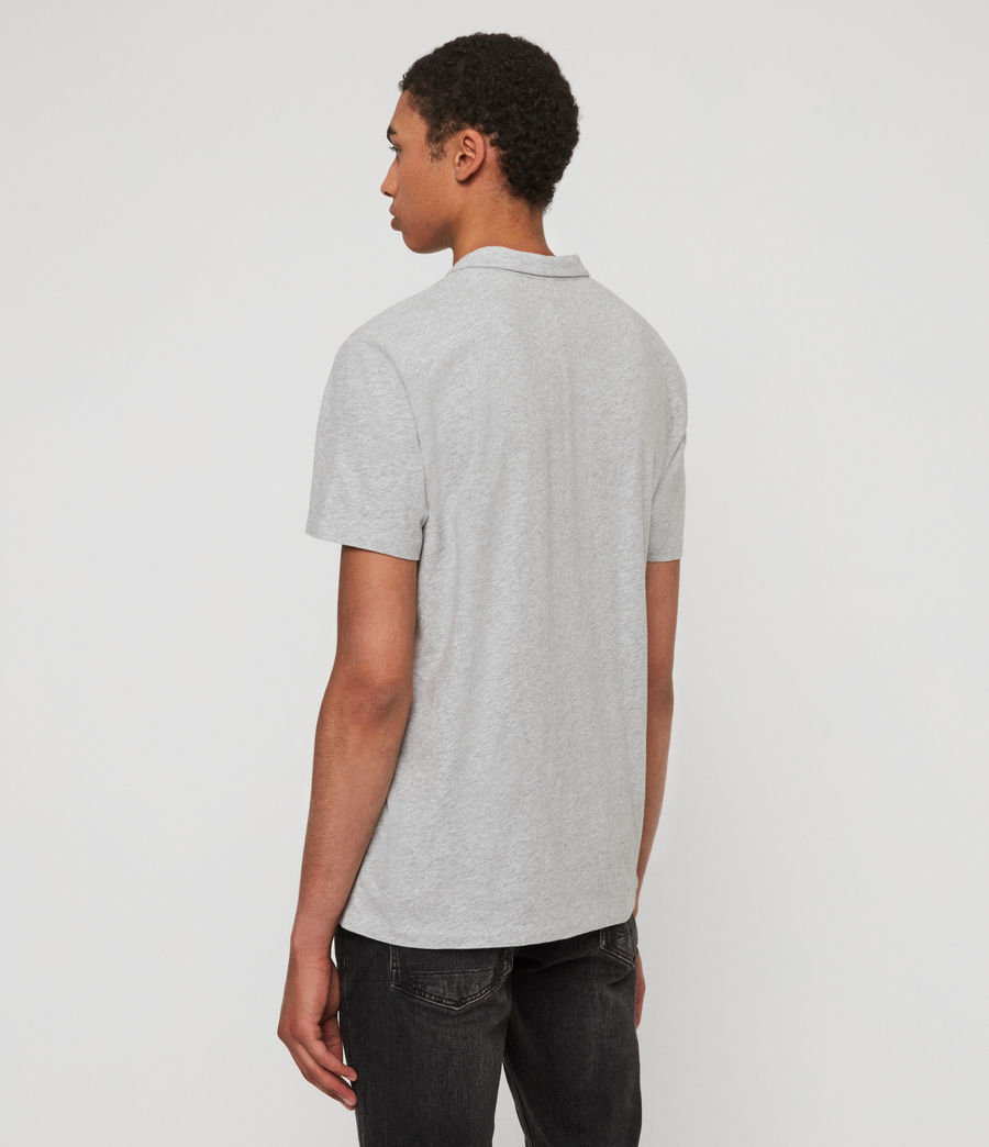 Mens Rufus Short Sleeve Polo Shirt (grey_marl) - Image 4
