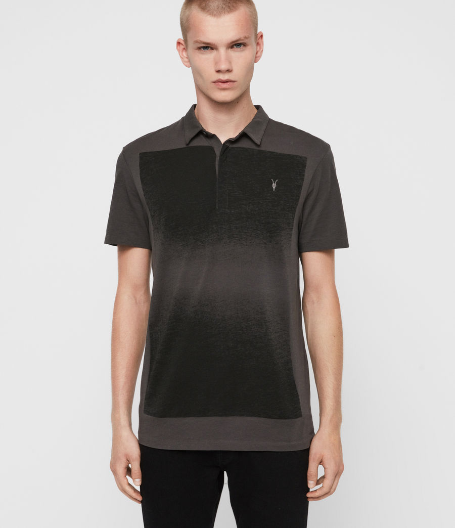 Men's Rufus Short Sleeve Polo Shirt (washed_black) - Image 1