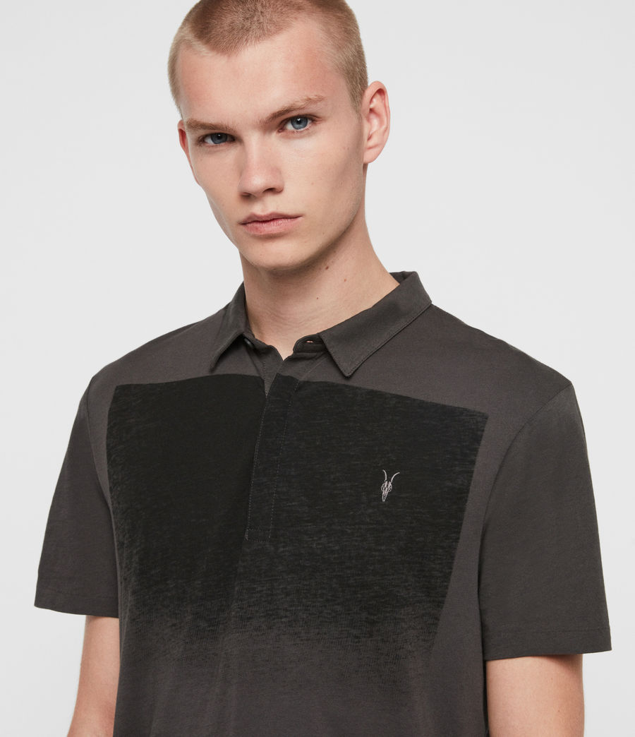 Men's Rufus Short Sleeve Polo Shirt (washed_black) - Image 2