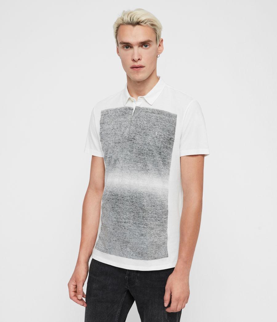 Mens Rufus Short Sleeve Polo Shirt (chalk_white) - Image 1
