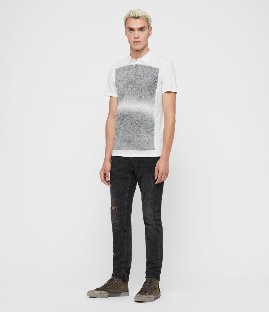 Mens Rufus Short Sleeve Polo Shirt (chalk_white) - Image 4