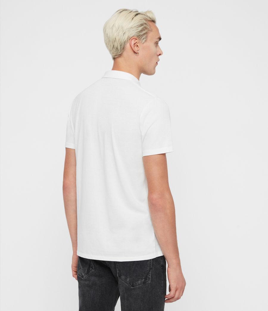 Mens Rufus Short Sleeve Polo Shirt (chalk_white) - Image 5