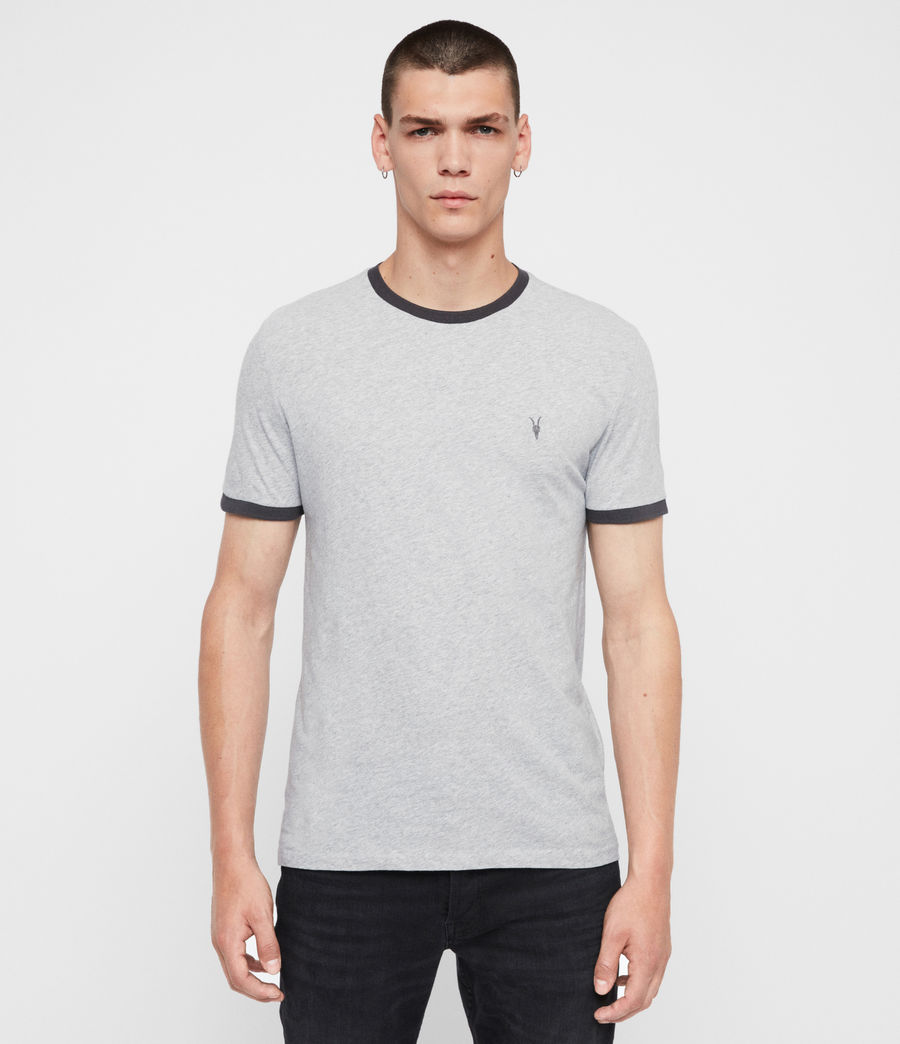 Men's Oakham Crew T-Shirt (grey_marl_black) - Image 1