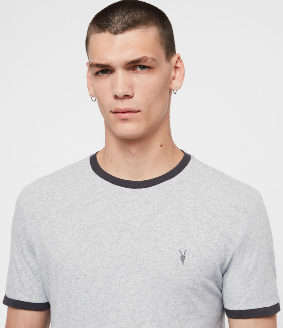 Men's Oakham Crew T-Shirt (grey_marl_black) - Image 2