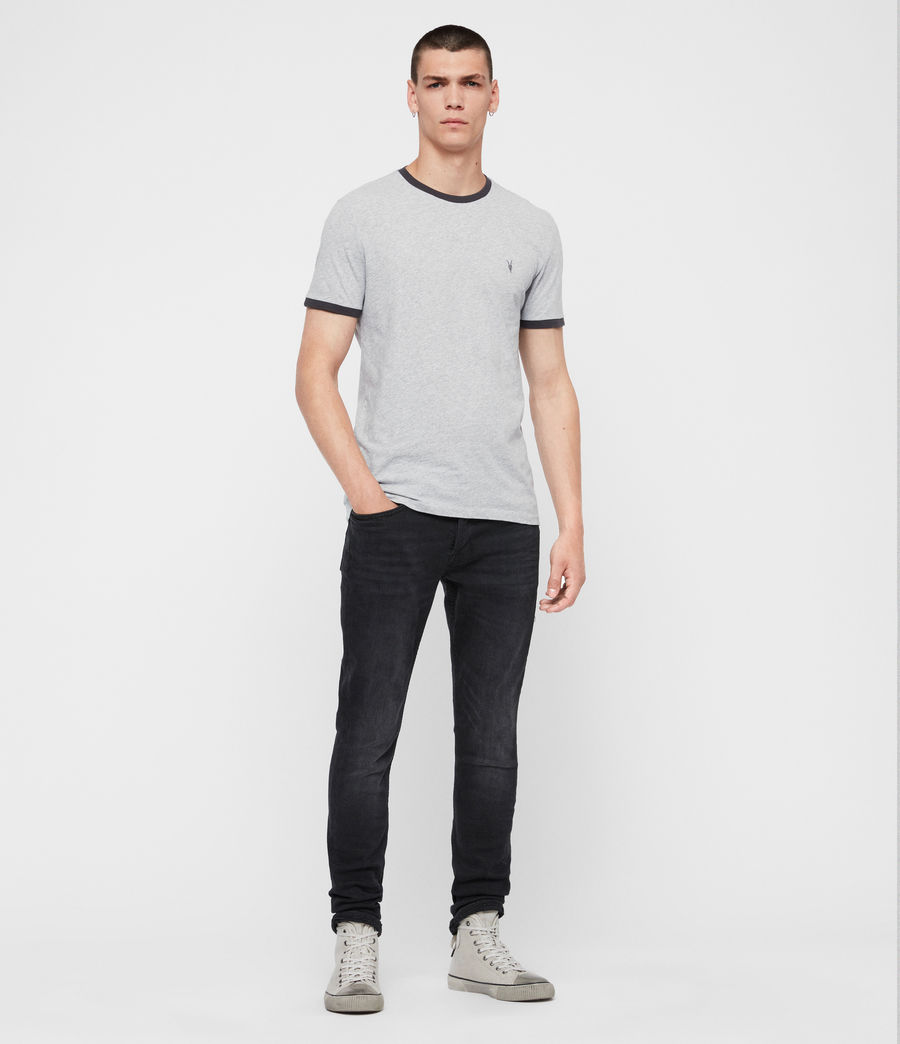Men's Oakham Crew T-Shirt (grey_marl_black) - Image 3