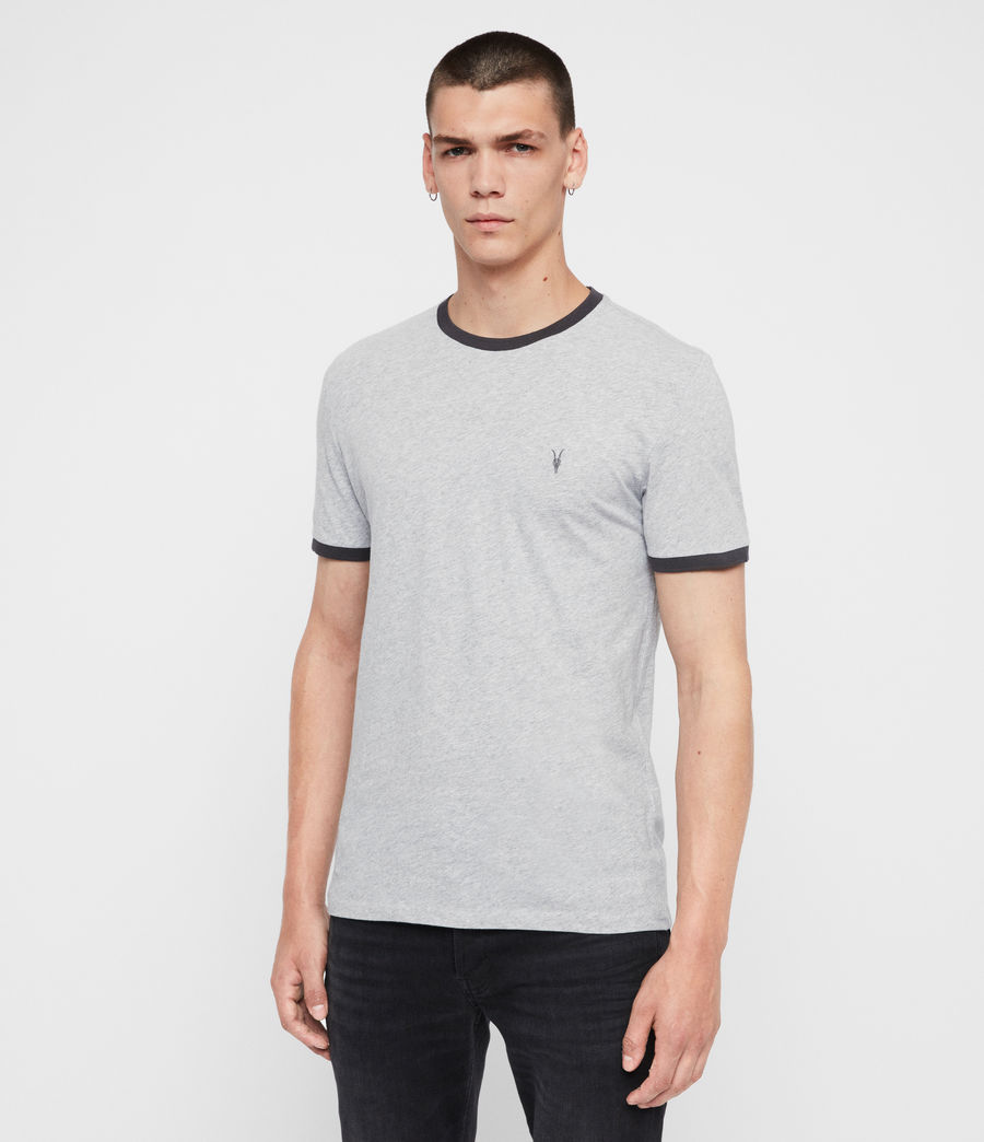 Men's Oakham Crew T-Shirt (grey_marl_black) - Image 4