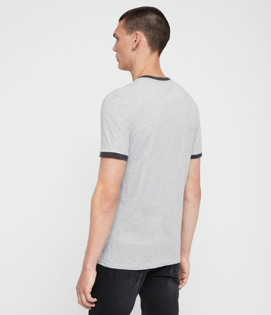Men's Oakham Crew T-Shirt (grey_marl_black) - Image 5