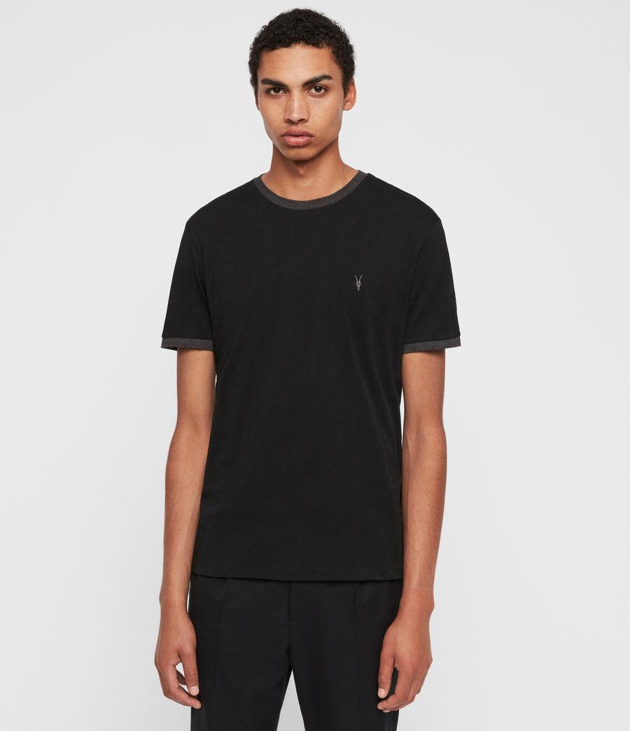 Hommes T-Shirt à Manches Courtes Oakham (jet_black_charcoal) - Image 1