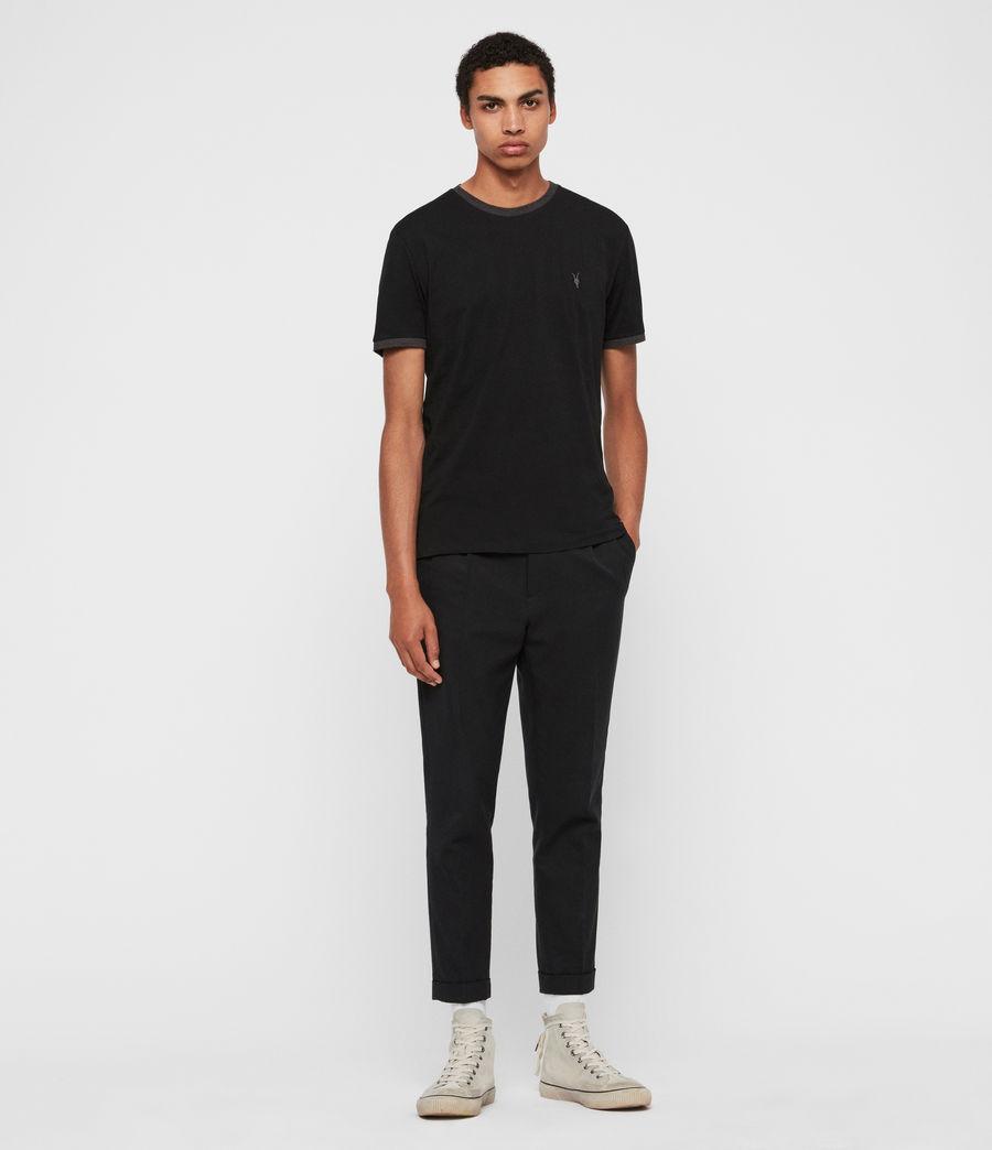 Hommes T-Shirt à Manches Courtes Oakham (jet_black_charcoal) - Image 3