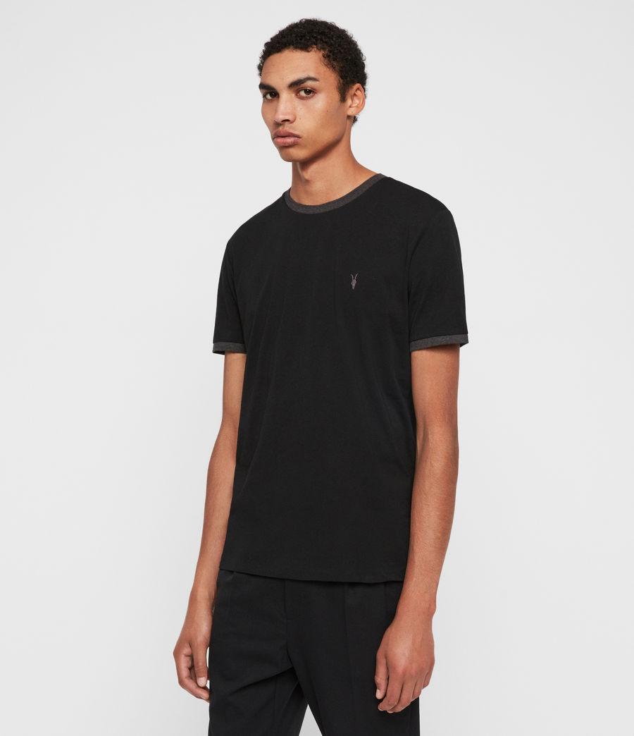 Hommes T-Shirt à Manches Courtes Oakham (jet_black_charcoal) - Image 4