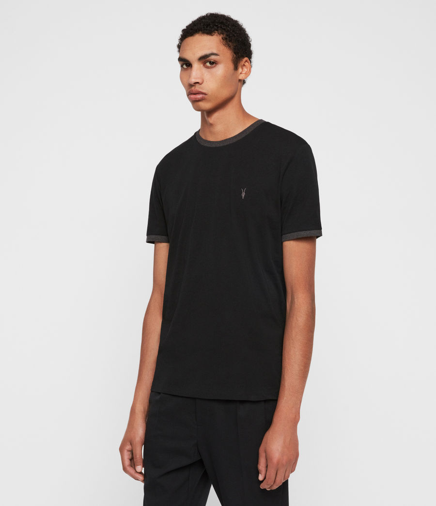 Hombres Camiseta Oakham (jet_black_charcoal) - Image 4
