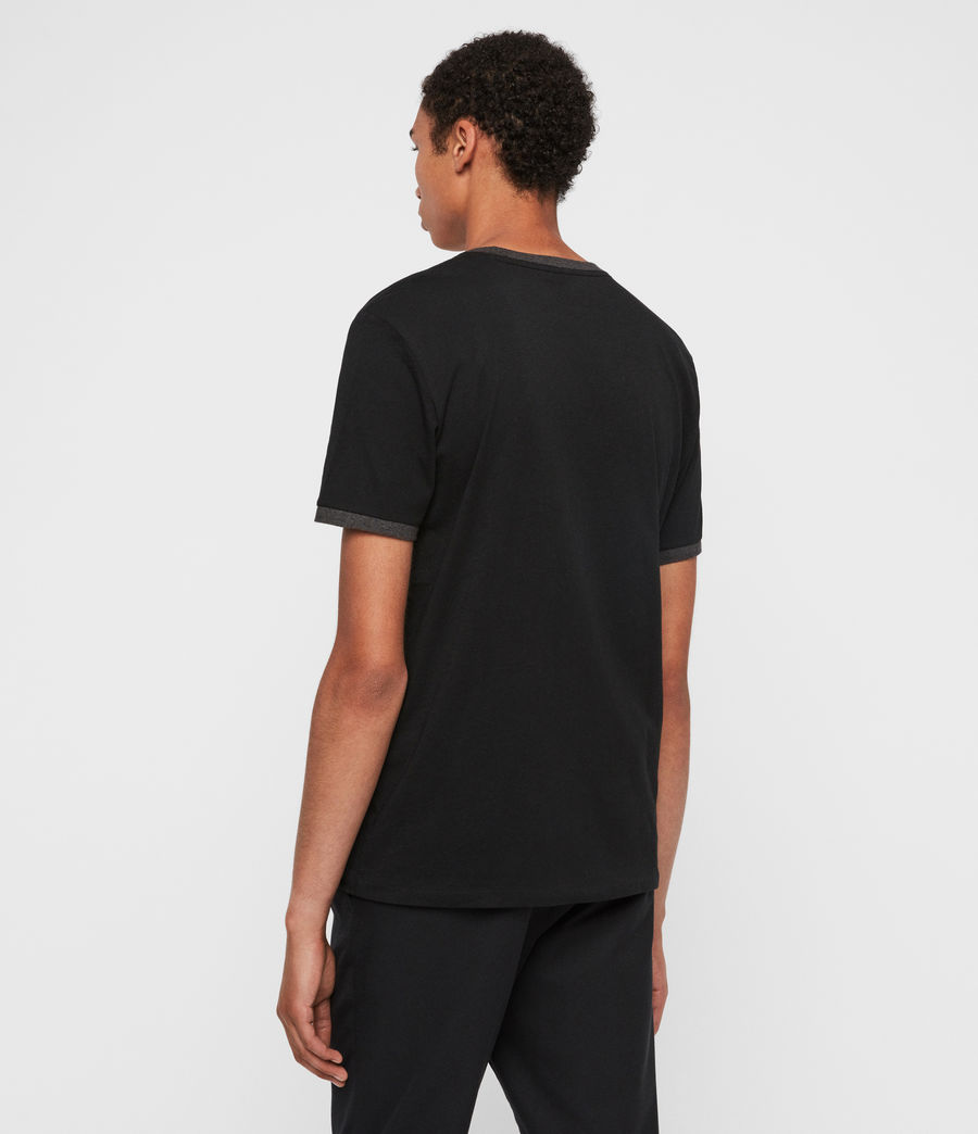 Hombres Camiseta Oakham (jet_black_charcoal) - Image 5