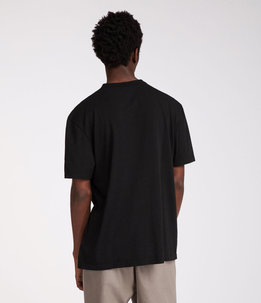Men's Interger Crew T-Shirt (jet_black) - Image 4