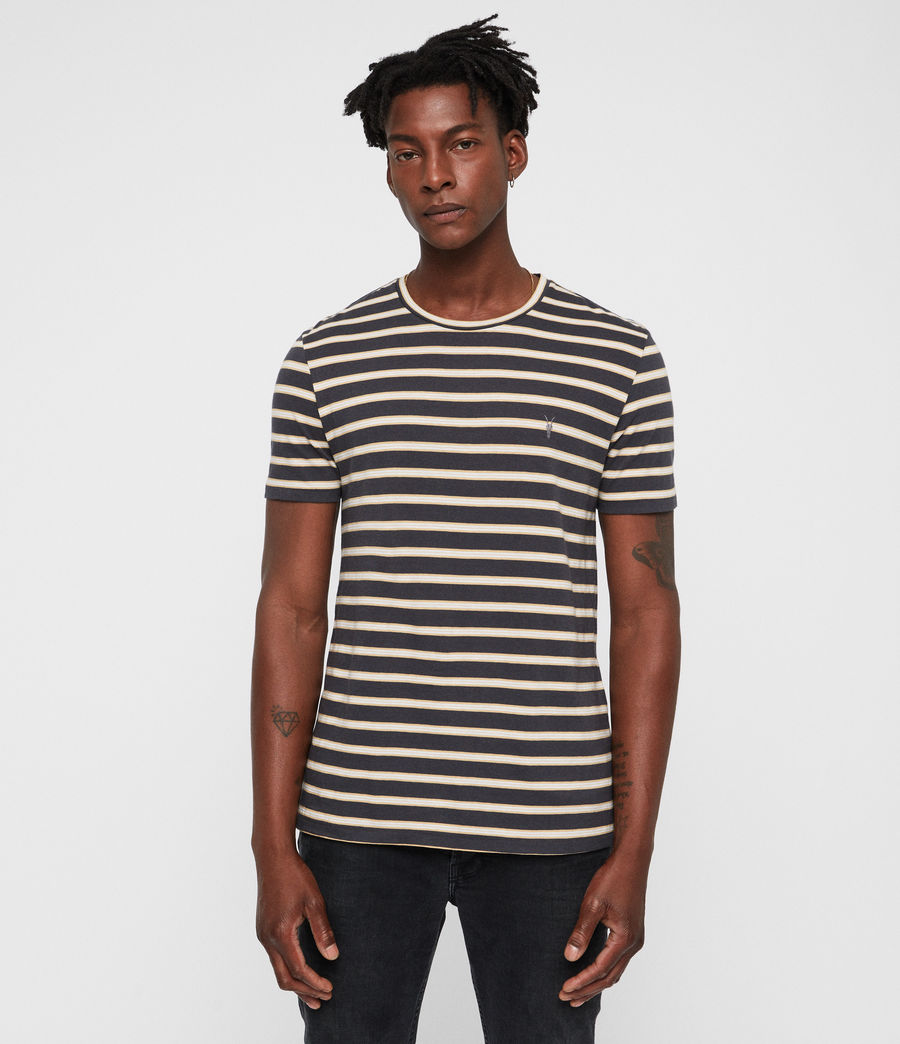 Mens Jockey Crew T-shirt (black_yellow_chalk) - Image 1