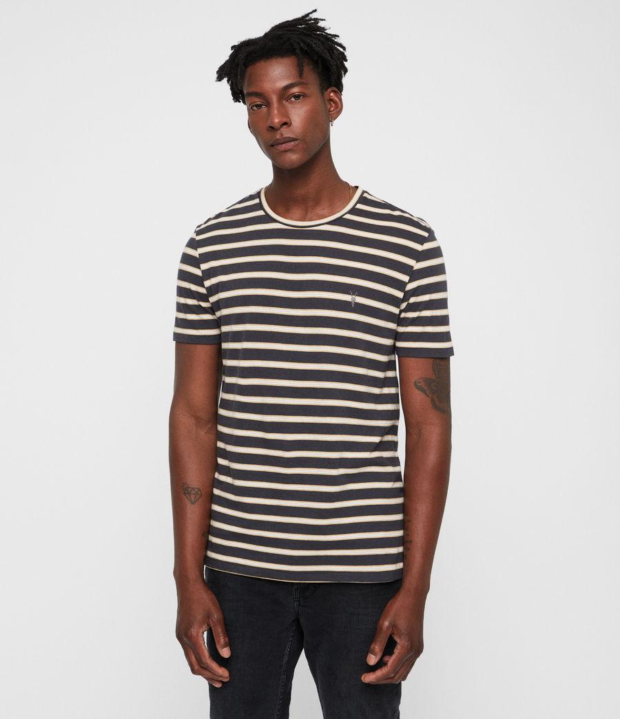 Mens Jockey Crew T-shirt (black_yellow_chalk) - Image 3