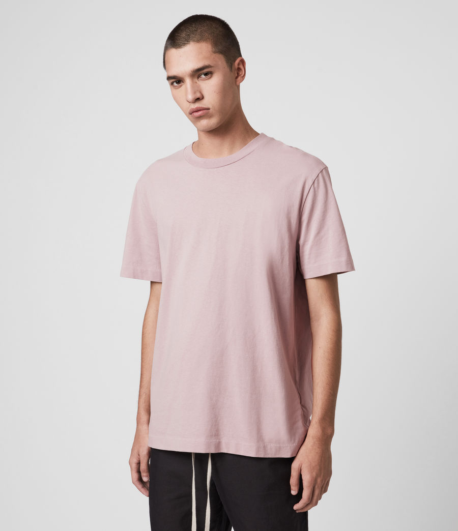 Men's Musica Crew T-Shirt (washed_fresh_pink) - Image 4