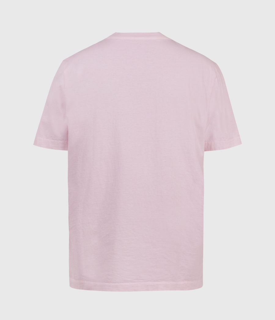 Men's Musica Crew T-Shirt (washed_fresh_pink) - Image 3